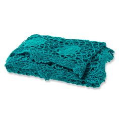 Crochet Throw in Teal