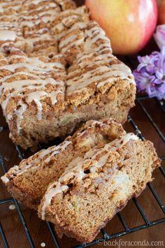 INCREDIBLE Glazed Cinnamon Apple Bread