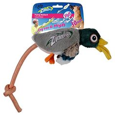 All For Paws-New Zinngers Flying Cartoon Animals Sound Plush Toys for Dog Puppy ** Read more at the image link. (This is an affiliate link and I receive a commission for the sales) Dog Chew Toys, Dog Toys, Mallard, Dogs And Puppies, Plush, Cartoon, Image Link, Photograph, Drop