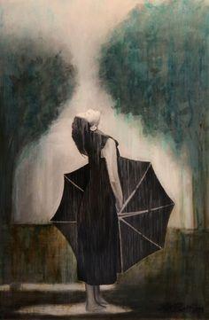 "Allison Rathan; Acrylic 2013 Painting ""Petrichoria - Original Sold"""