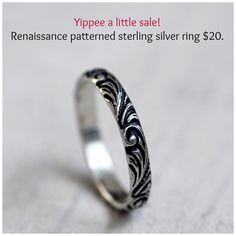 Guess what!!!?? I'm having a little sale. This awesome sterling silver ring is only $20 from now until September 2 and US shipping is FREE! Yes you heard that right, so what are you waiting for? Click through the image to purchase the ring.