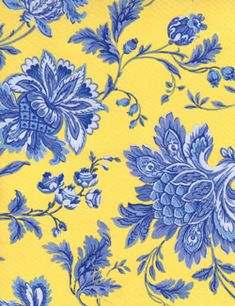 1000 Images About Blue And Yellow Fabric On Pinterest