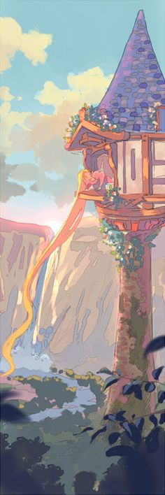 Tangled Rapunzel - by ~fukamatsu deviant art Disney Pixar, Rapunzel Disney, Film Disney, Arte Disney, Disney Fan Art, Disney And Dreamworks, Disney Love, Disney Magic, Disney Princess