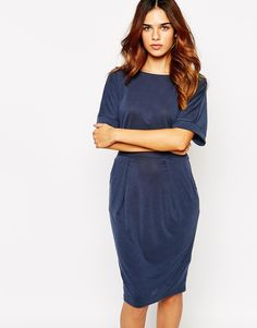 Warehouse Premium Jersey Kimono Sleeve Dress