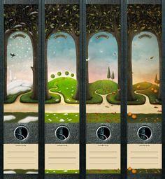 File Art AJ460 Design Etiketten Ordnerrückenschilder