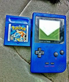 I still have my Pokemon Blue, but I played it through my Nintendo 64 with Pokemon Stadium!
