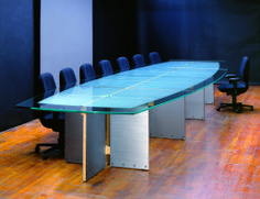 Modern Glass Top Conference Tables And Industrial Metal Conference - Oval glass conference table