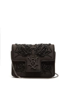 ALEXANDER MCQUEEN   Insignia embellished satin bag