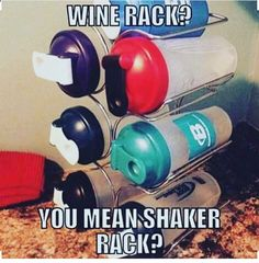 Haha! I do like my wine rack but I feel like this most days too :)