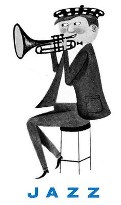 Jazz-1960. Category logo from a 1960 Kapp Records catalog.
