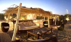 Coccaro beach bar, Puglia, Italy.