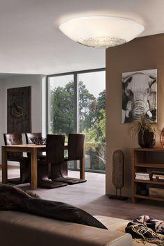 lmpara de mesilla toda fabricada en cristal opal blanco ideas pinterest with stekkerspot action. Black Bedroom Furniture Sets. Home Design Ideas