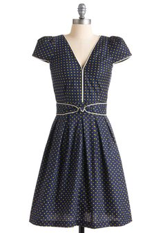 Lindy Hop Lovely Dress. Stepping onto the dance floor, you clasp hands with your partner as the uproarious music unfolds before you. #blue #modcloth