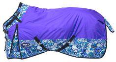 Tough-1 1200 D Snuggit Metallic Purple Paisley Waterproof Turnout Blanket
