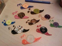 snail- using buttons -cute