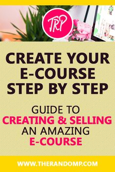Are you willing to get into Infoproduct creation? Have you dreamed about creating your own E-course? Here's an option to follow my process step-by-step and get on board! http://therandomp.com/blog/?category=Project