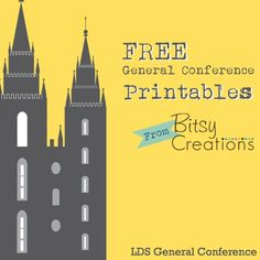 Free General Conference printables from BitsyCreations. Just follow us on Facebook & ask for a printable to remember your favorite Conference quote or to use in a lesson. #LDS #LDSCONF