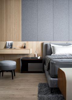 Hotel Bedroom Design, Loft Interior Design, Home Bedroom, Modern Bedroom Furniture, Living Room Interior, Living Room Decor, Furniture Design, Bedside Table Design, Loft Interiors