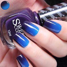$6.99 1 Bottle 12ml Thermal Nail Polish Temperature Color Changing Nail Art Polish Purple to Blue - BornPrettyStore.com