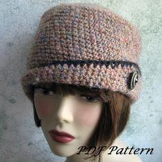 Luz de sombrero de ganchillo para mujer mezclado por kalliedesigns