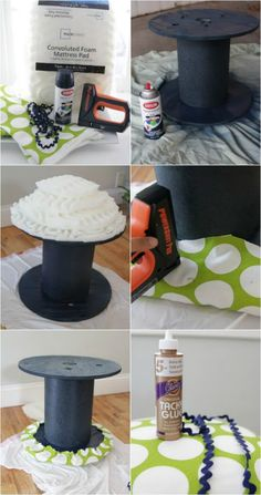 DIY: Electrical Spool Stools | The Lovely Cupboard