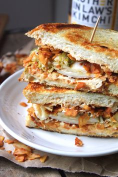 Kimchi & Coconut Bacon Grilled Cheese Sandwich | Fettle Vegan