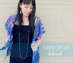 Domestic Bliss Squared: kimono cardigan tutorial