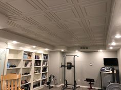 Stratford Ceiling Tiles Tiles, Basement Ceiling, Home, Indoor Air, Ceiling, Ceiling Design, Ceiling Tiles, Indoor, Ceiling Tile