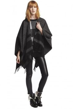 Poncho & leather