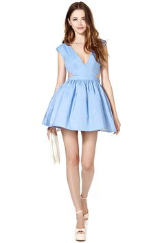 School's Out Dress - Chambray   Shop Clothes at Nasty Gal