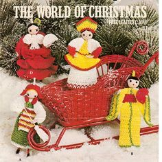 Crochet Doll Patterns, World of Christmas Free Leaflet C-1046