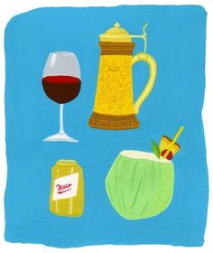 """""""Inconsistency among countries in the definitions of a standard drink and of what constitutes low-risk drinking makes it difficult to conduct global research on alcohol use and addiction. Illustration by Juliette Borda"""