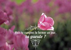 #ta gueule Dites le avec des fleurs ! :D