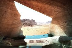 The most gorgeous lodging concept we've ever seen, this desert eco-lodge has James Bond written all over it.