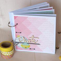 """Le scrap d 'Opsite: Mini album """"Create"""" en Citrus Bliss pour Inspiration… Scrapbooking Mini Album, Scrapbook Paper Crafts, Mini Album Scrap, Book Making, Mini Books, Diy, Bliss, Creations, Album Photos"""