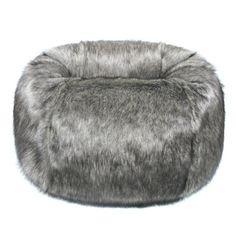 a73ed61bd1 Helen Moore Giant Bean Bag Chair Lady Grey Faux-Fur