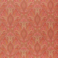 Red color Medallion and Paisley pattern Cotton and Made in USA type Upholstery Fabric called Rouge by KOVI Fabrics Paisley Art, Paisley Pattern, Wallpaper Fireplace, Greenhouse Fabrics, Textile Patterns, Textiles, Creative Inspiration, Printing On Fabric, Pattern Design