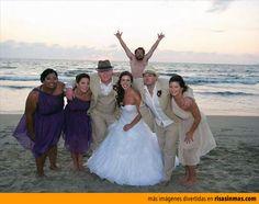 Fotobomba en la boda.