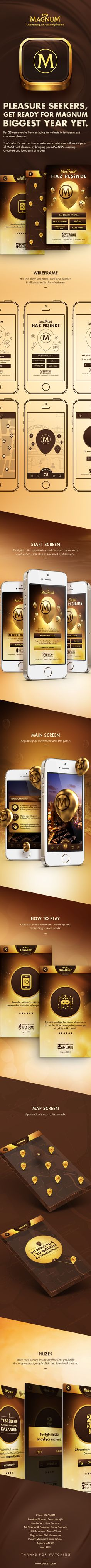 Celebrating 25 Years of MAGNUM Pleasure App on Behance