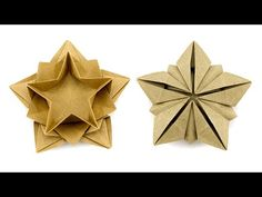 Learn how to make a beautiful origami star bowl designed by Masoud Hosseini. This origami 5 point star is made with 1 sheet of paper, it's easier than it loo. Origami Bowl, Origami Modular, Origami Star Box, Origami And Kirigami, Origami Fish, Origami Dragon, Origami Folding, Origami Stars, Origami Paper