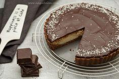 nepečený kokosovo-čokoládový tart
