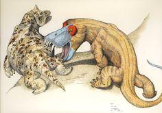 Anteosaurus and Styracocephalus?, Permian synapsids
