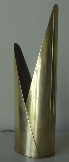 Mathieu Matégot; Brass 'Lampe Laiton' Table Lamp, 1960.