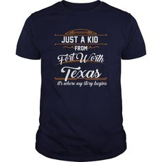 a kid from fort worth texas city tshirts fort worth gift