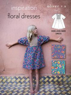 Here are over a half dozen floral dress ideas to inspire you to sew-it-yourself with Oliver + S.
