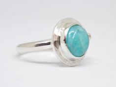 Amazonite ringAqua blue silver ring Sterling silver by SILVERstro
