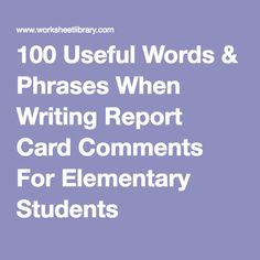 Effective Report Card Comments   Bell Bytes   Report cards     Pinterest