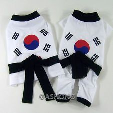 Dog&Cat Clothes Taekwondo Uniform Costume Jersey_DE12