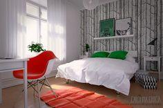 Infoarquitectura y diseño 3d: Escena interior 3d. Dormitorio II