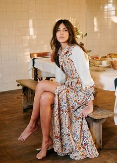 Robes Western, Western Dresses, Italy Fashion, Boho Fashion, Womens Fashion, Spring Collection, Dress Collection, Bella Dresses, Couture